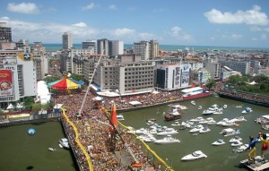 Centro do Recife no Sábado de Carnaval - final do séc. XX